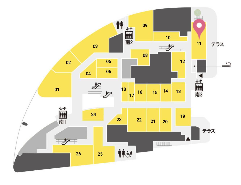ラ ボデガ 大阪店 フロアマップ