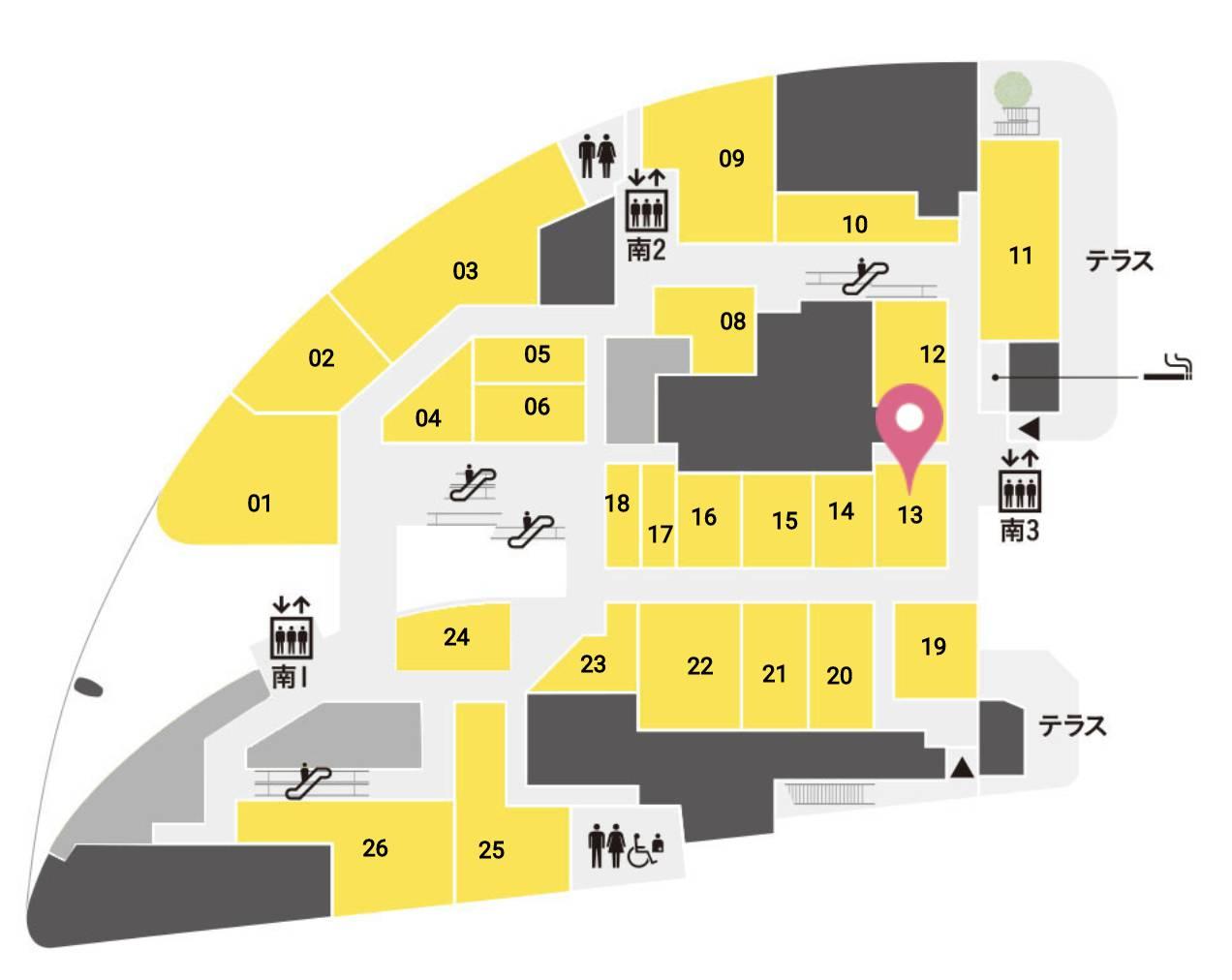 大坂おでん焼とん久 グランフロント大阪店 フロアマップ
